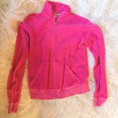 Juicy Couture hot pink sexy terry beach jacket Great condition :) any questions please ask Juicy Couture Jackets & Coats