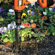 Flower Bulb Planter Attachment Use With Cordless Drill ** You can find more details by visiting the image link.