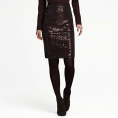 Sequin Skirt (Brown, Size SM)