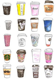 coffee drawing 33 Ideas for photography starbucks Coffee Drawing, Coffee Art, Coffee Time, Coffee Painting, Coffee Corner, Coffee Cozy, Coffee Break, Coffee Shop, Food Illustrations
