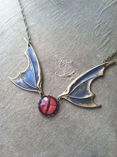 Smaug Dragon Hobbit Inspired Eye Halloween Necklace