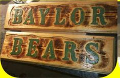 Baylor, Family Names, Texas Rangers, Western Decor, Wood Signs, Custom Signs, Personalized Signs, Woodworking, Birthday Gifts, Astros Dorm Room Signs, Last Name Wood Sign, Family Wood Signs, Family Names, Handmade Signs, Newlywed Gifts, Custom Wood Signs, Western Decor, Personalized Signs