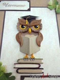 Quilled Owl by TipTopArtShop