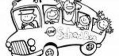 School Bus color page transportation coloring pages, color