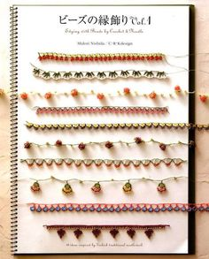 EDGING with Beads by CROCHET and NEEDLE - Japanese Book.