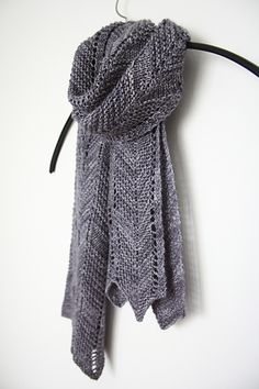 Simple & chic chevron scarf for one skein of fingering weight yarn.