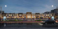 Project :Quds Plaza Mall Location : KSA on Behance Office Building Architecture, Retail Architecture, Office Buildings, Commercial Complex, Commercial Street, Shopping Street, Shopping Malls, Mall Facade, Supermarket Design