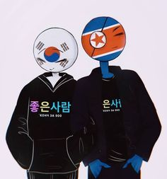 Random pictures of countryhumans - 43 - Sayfa 3 - Wattpad Hetalia, Korea Country, Country Men, South Korea North Korea, North And South, Wattpad, Arte Do Kawaii, Pusheen Cat, Mundo Comic