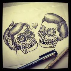 skull-tattoo.jpg (610×610)