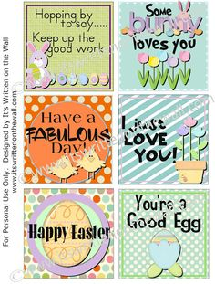 {Freebie} Get our Easter Lunchbox Notes Here  30 notes in the collection