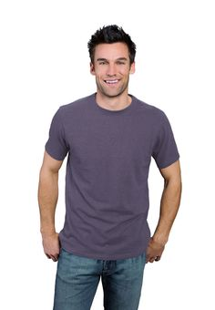 Dirty Purple ONNO bamboo and organic cotton t-shirt for men. This purple is breath of fresh air. Also available in hemp.