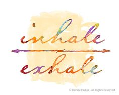 Yoga Inhale Exhale SUN COLORS Small Yoga Wall Art by YogaColors