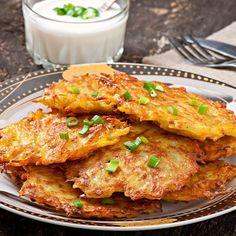 Pancakes salés de pommes de terre