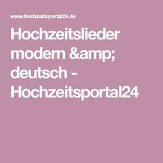 Hochzeitslieder modern & deutsch - Hochzeitsportal24
