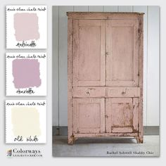 Colorways with Leslie Stocker » Rachel Ashwell Inspiration for Annie Sloan Chalk Paint® color palette. Antoinette. Henrietta. Old White