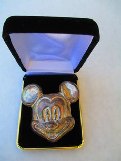 Mickey Mouse Vintage 925 Mexico Sterling Silver Pin-Pendant-Broach-Unpolished. FREE SHIPPING on Etsy, $65.00