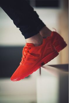 Dear Lord these make me want to cry they're so good (Adidas ZX Flux - Triple Red) Me Too Shoes, Men's Shoes, Shoe Boots, Shoes Sneakers, Red Adidas Shoes, Adidas Red, Roshe Shoes, Adidas Sport, Red Shoes