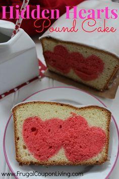 Hidden Hearts Pound Cake Recipe – Valentine's Day Food Craft #recipe #valentinesday