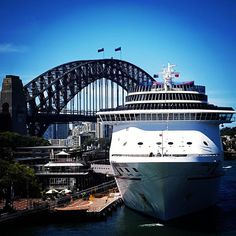 #322 #sleeps till the #dreaming is #over  #carnival #cruiseship #legend #sydneyharbourbridge #bridge #sydney #circularquay #dreams can come #true  #excited #goal  @carnivalcruiselineau by jop5902 http://ift.tt/1NRMbNv