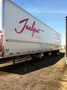 Great commercial lettering on 53' trailer by GTA CAR WRAP. Call us today at 1-844-404-WRAP (9727)