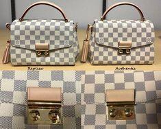 351f9528057 How to spot a FAKE Louis Vuitton Croisette Bag  A Detailed Review   Side by  Side Comparison - Sun Kissed Violet  Louisvuittonhandbags