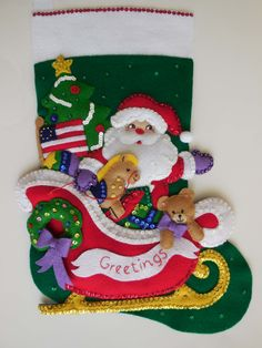 Finished Christmas Stocking Santa in the por JoysofChristmas