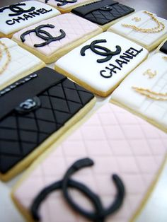 Chanel Cookies! Perfect for our parties @Ashley Carter lol