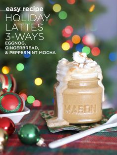Holiday Lattes 3-Ways, Eggnog, Gingerbread, & Peppermint Mocha - Dairy-Free | Diane Sanfilippo