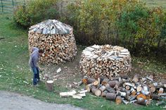 stacking firewood overview