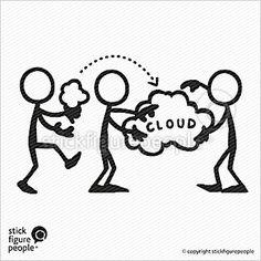 Stick Figure Cloud Computing 1