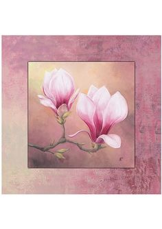 """Home affaire mural """"Late Magnolia"""", Late Magnolia, / 5 .- Home affaire Wandbild Watercolor Feather, Watercolor Flowers, Watercolor Art, Arte Floral, Magnolia Paint, Plant Drawing, Painting Inspiration, Framed Art Prints, Flower Art"""