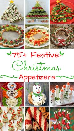 75 Festive Christmas Appetizers - Ideas to use for the holiday get togethers with family and friends. Bring one of these creative appetizers to your Christmas party! These Christmas appetizers include dips, spreads, finger foods and much more. Christmas Apps, Christmas Party Food, Christmas Brunch, Xmas Food, Christmas Cooking, Christmas Goodies, Christmas Desserts, Holiday Treats, Holiday Recipes