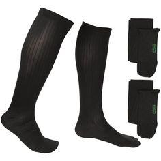 073b9c1479 2 Pair EvoNation Men's USA Made Graduated Compression Socks mmHg Mild  Pressure Medical Quality Knee High Orthopedic Support Stockings Hose - Best  Comfort ...