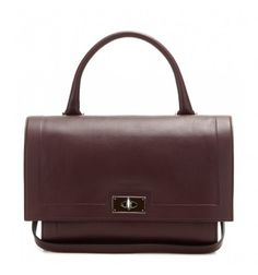 Bordeauxrote Ledertasche Shark Small By Givenchy