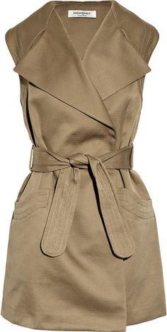 Cotton-gabardine Trench Dress Yves Saint Laurent