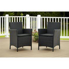 Cosco Outdoor Jamaica Resin Wicker Patio Dining Chair - Set of 2 - 88511BLK2E