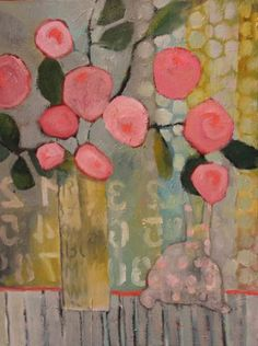 "Annie O'Brien Gonzales: Contemporary Abstract Still Life Flower Art Painting ""Sunday Morning"" by Santa Fe Artist Annie O'Brien Gonzales<br> Art Floral, Motif Floral, Art Aquarelle, Expressionist Artists, Abstract Flowers, Painting Flowers, Flower Paintings, Art Flowers, Contemporary Paintings"