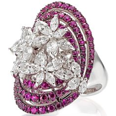 Stefan Hafner - Angelica Ring in white gold with diamonds and pink sapphires. Photo courtesy press office.