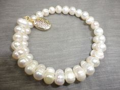 Fresh Water Pearl Wrap Bangle by AprilSueDesigns on Etsy