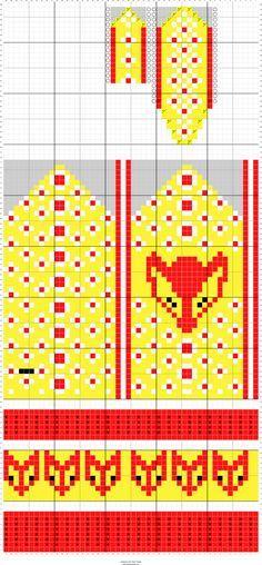 Kettukarkkilapaset | Designed by Kristiina Kortelainen | Stitch Fiddle - Stitch Fiddle