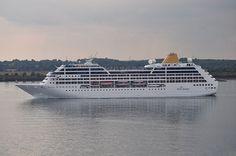 P Cruises - Adonia leaving Southampton, UK.