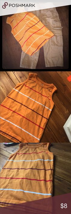 Boys Combo Pack Tank is Size 5 (small). By old Navy  orange is a hard color to photograph. But it's still pretty bright.    The cargo pants are size 5 by Route 66. Adjusting waist. 100% cotton.    From a smoke and animal free home. Route 66 Shirts & Tops Tank Tops