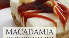 Macadamia-Cheesecake mit gesalzenem Karamell