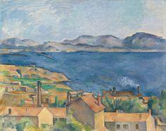 "lu-art: ""Paul Cézanne, The Bay of Marseille, Seen from L'Estaque, c. 1885. """