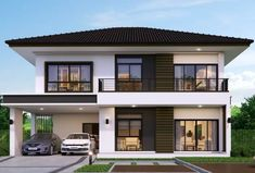 House design plan with 3 bedrooms is part of Home design plans - House design plan with 3 bedrooms Style ModernHouse descriptionNumber of floors 2 storey housebedroom 3 roomstoilet 3 roomsmaid's room 2 Storey House Design, Bungalow House Design, House Front Design, Small House Design, Dream Home Design, Home Design Plans, Modern House Design, Modern Zen House, Model House Plan