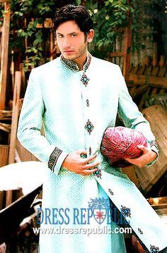 Style DRM1029, Product code: DRM1029, by www.dressrepublic.com - Keywords: Amir Adnan Sherwani Collection, Amir Adnan Mens Sherwani Online