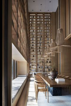Photos and Videos 24 of 32 from project Jinan Bocuishan Sales Center Chalet Interior, Lobby Interior, Luxury Interior, Modern Interior Design, Interior Architecture, Design Entrée, Cafe Design, House Design, Chinese Interior