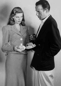 "Humphrey Bogart e Lauren Bacall - ""Acque del sud"" (To Have and Have Not), 1944"
