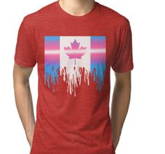 """Canadian Flag- Transgender Pride"" T-Shirts & Hoodies by Jasmine-Murray 