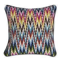Multi Sandpiper Drive Bargello Pillow | Jonathan Adler